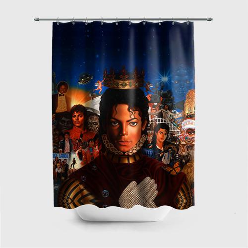 Штора 3D для ванной Michael Jackson