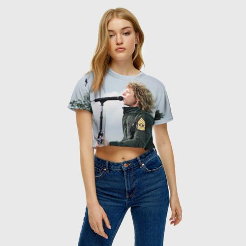 Женская футболка 3D укороченная  Фото 04, BON JOVI