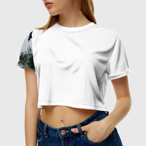 Женская футболка 3D укороченная  Фото 01, BON JOVI