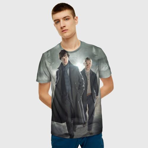 Мужская футболка 3D Шерлок Холмс Фото 01