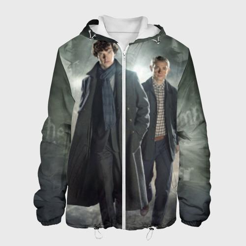 Мужская куртка 3D Шерлок Холмс Фото 01