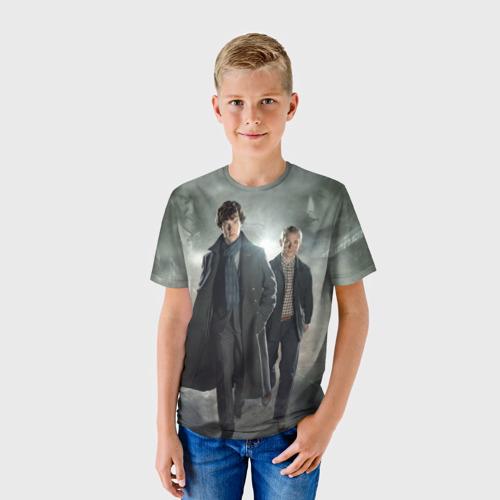 Детская футболка 3D Шерлок Холмс