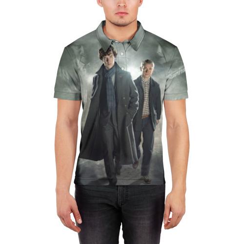 Мужская рубашка поло 3D  Фото 03, Шерлок Холмс