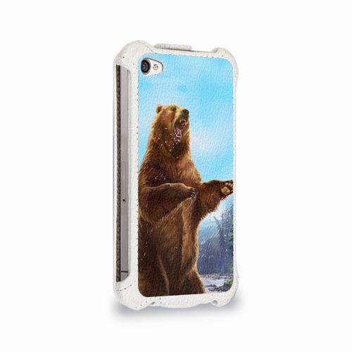 Чехол для Apple iPhone 4/4S flip  Фото 02, Русский медведь