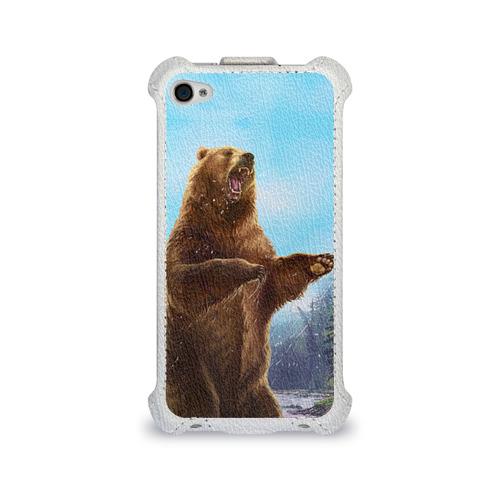 Чехол для Apple iPhone 4/4S flip  Фото 01, Русский медведь