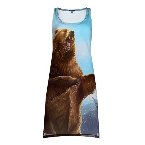 Платье-майка 3D Русский медведь