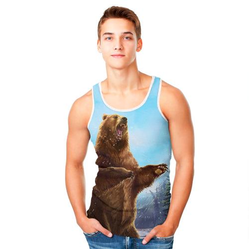 Мужская майка 3D  Фото 05, Русский медведь