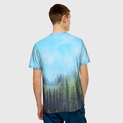Мужская футболка 3D  Фото 02, Русский медведь