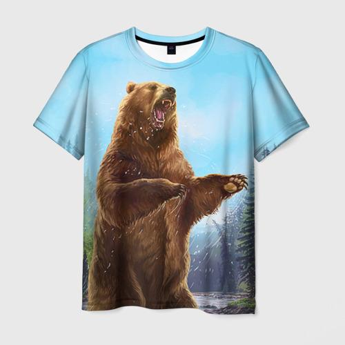 Мужская футболка 3D  Фото 03, Русский медведь