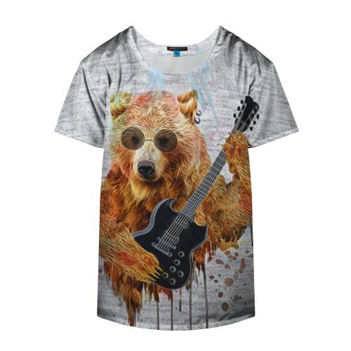 Накидка на куртку 3D  Фото 04, Медведь с гитарой