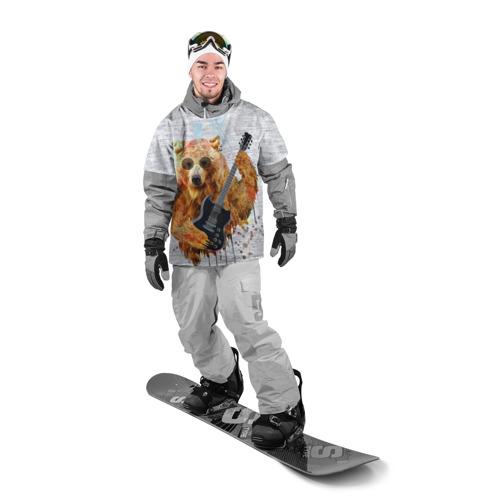 Накидка на куртку 3D  Фото 03, Медведь с гитарой