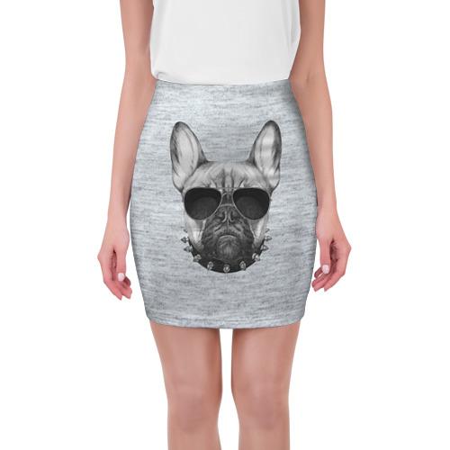 Мини-юбка 3D Милый бульдог от Всемайки
