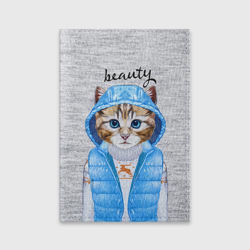 Обложка для паспорта матовая кожа  Фото 01, Модная киска