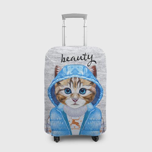 """e5cb4acb7bf0 Чехол для чемодана 3D с принтом или надписью """"Модная киска"""", артикул ..."""