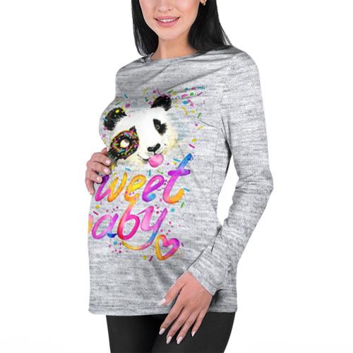 Женский лонгслив 3D для беременных  Фото 01, Милая пандочка