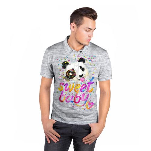 Мужская рубашка поло 3D  Фото 05, Милая пандочка