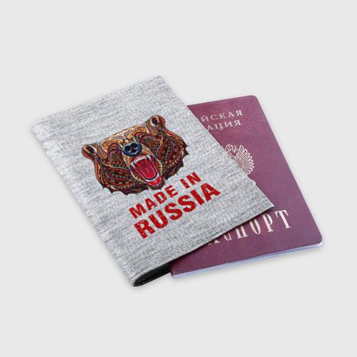 Обложка для паспорта матовая кожа  Фото 03, made in Russia