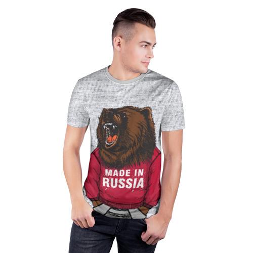 Мужская футболка 3D спортивная made in Russia Фото 01