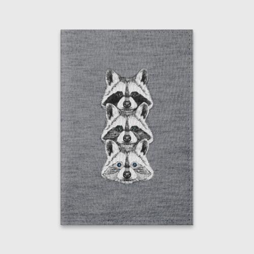 Обложка для паспорта матовая кожа  Фото 01, Еноты