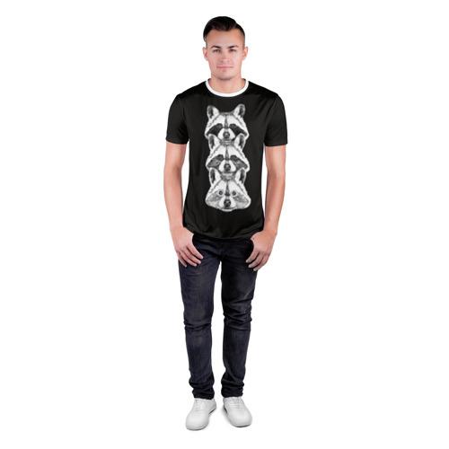 Мужская футболка 3D спортивная  Фото 04, Еноты