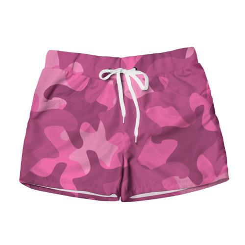 Женские шорты 3D Розовый камуфляж