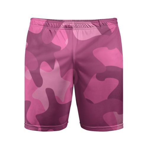Мужские шорты 3D спортивные Розовый камуфляж