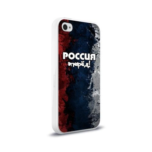 Чехол для Apple iPhone 4/4S силиконовый глянцевый  Фото 02, Россия, вперёд!