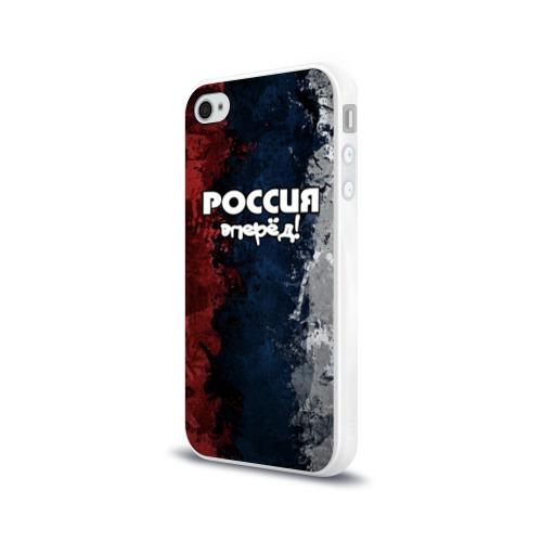 Чехол для Apple iPhone 4/4S силиконовый глянцевый  Фото 03, Россия, вперёд!