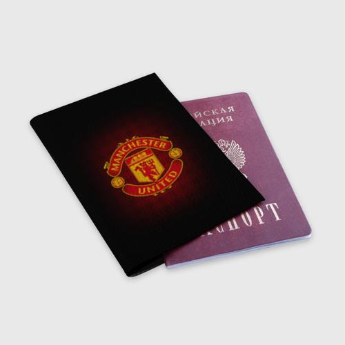 Обложка для паспорта матовая кожа  Фото 03, Манчестер Юнайтед