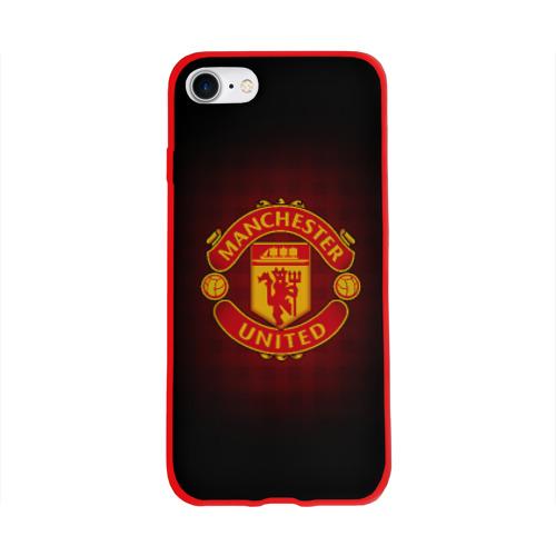 Чехол для Apple iPhone 8 силиконовый глянцевый Манчестер Юнайтед