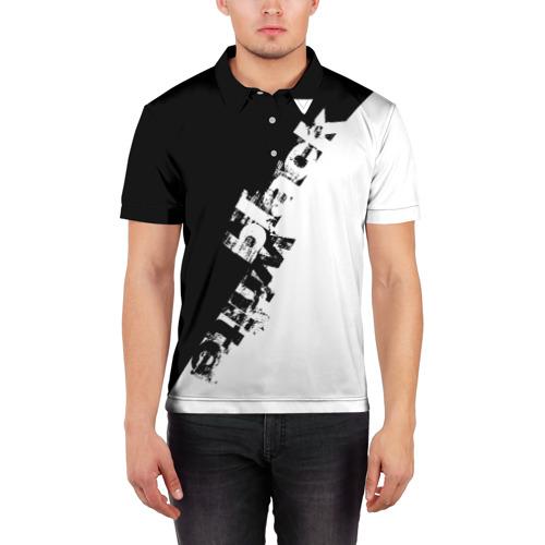 Мужская рубашка поло 3D Black and White Фото 01