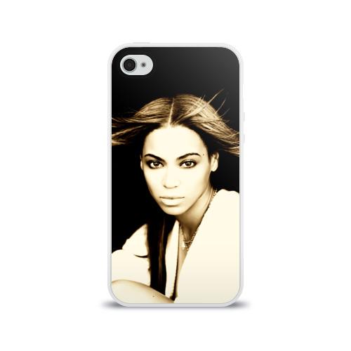 Чехол для Apple iPhone 4/4S силиконовый глянцевый  Фото 01, Beyonce