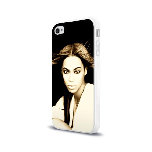 Чехол для Apple iPhone 4/4S силиконовый глянцевый  Фото 03, Beyonce