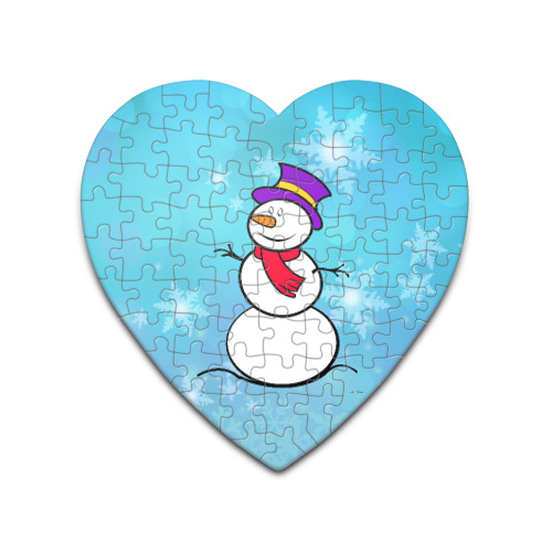 Пазл сердце 75 элементов  Фото 01, Снеговик