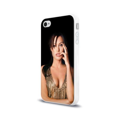 Чехол для Apple iPhone 4/4S силиконовый глянцевый  Фото 03, Анжелина Джоли