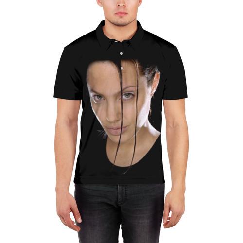 Мужская рубашка поло 3D  Фото 03, Анжелина Джоли