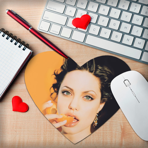 Коврик сердце  Фото 02, Анжелина Джоли