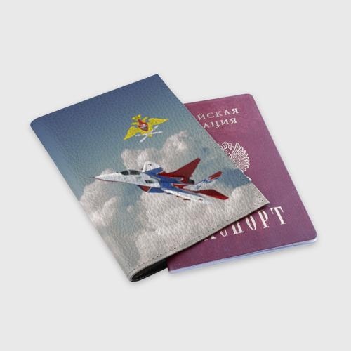 Обложка для паспорта матовая кожа  Фото 03, Самолёт