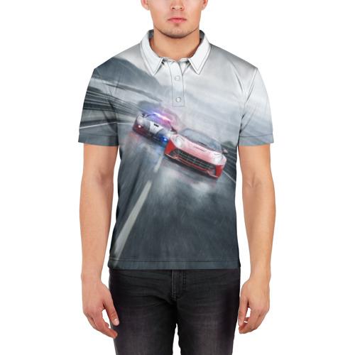Мужская рубашка поло 3D NFS Фото 01