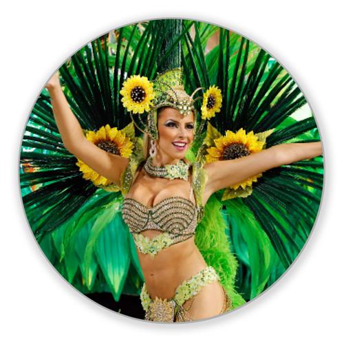 Коврик круглый Карнавал в Рио от Всемайки