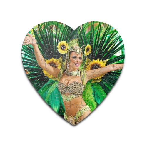 Пазл сердце 75 элементов Карнавал в Рио от Всемайки