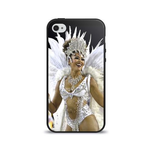 Чехол для Apple iPhone 4/4S силиконовый глянцевый Карнавал в Рио от Всемайки
