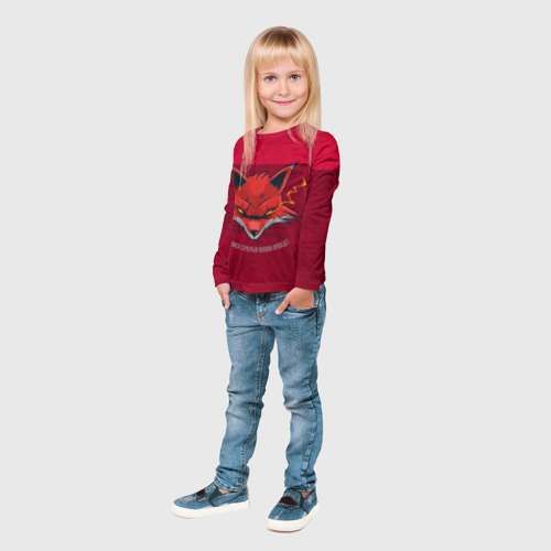 Детский лонгслив 3D Хитрая Лиса Фото 01