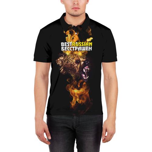 Мужская рубашка поло 3D  Фото 03, BESTRUSSIAN - БЕССТРАШЕН