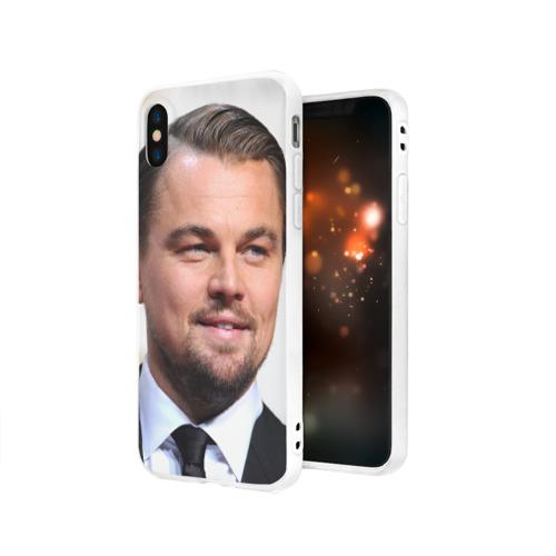 Чехол для Apple iPhone X силиконовый матовый  Фото 03, Leonardo Dicaprio