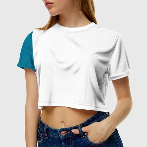 Женская футболка 3D укороченная  Фото 01, Бабочки