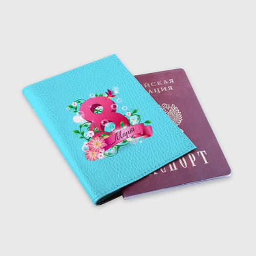 Обложка для паспорта матовая кожа  Фото 03, Восьмерка и колибри