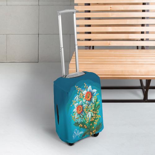 Чехол для чемодана 3D  Фото 03, 8 марта ретро