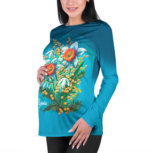 Женский лонгслив 3D для беременных  Фото 01, 8 марта ретро