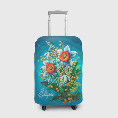 Чехол для чемодана 3D  Фото 01, 8 марта ретро